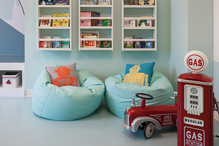 Beanbags in children's playroom - 1N4 Williamsburg New York