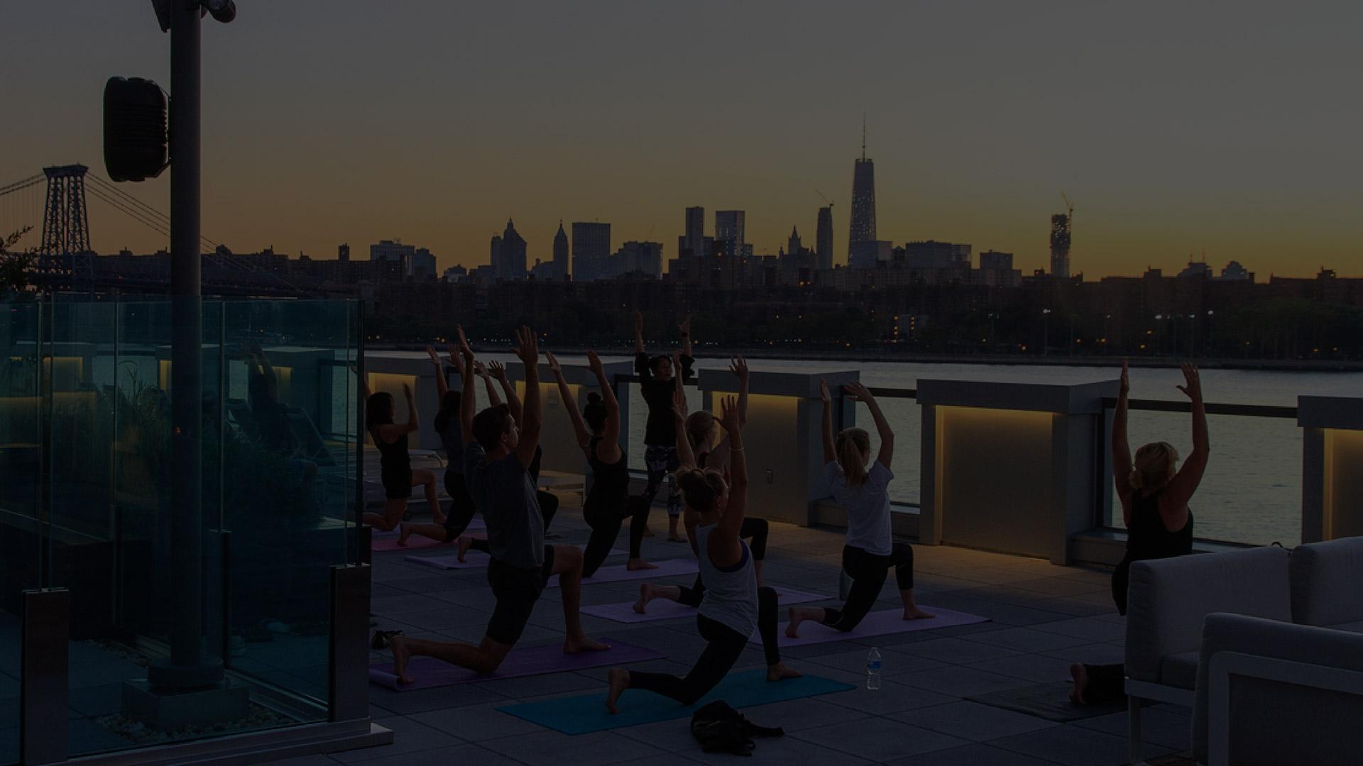 Evening yoga session - 1N4 Williamsburg New York