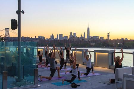 Yoga class stretching - 1N4 Williamsburg New York